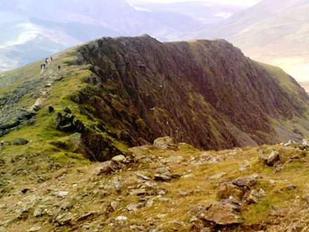 Mount Snowdon cliff edge