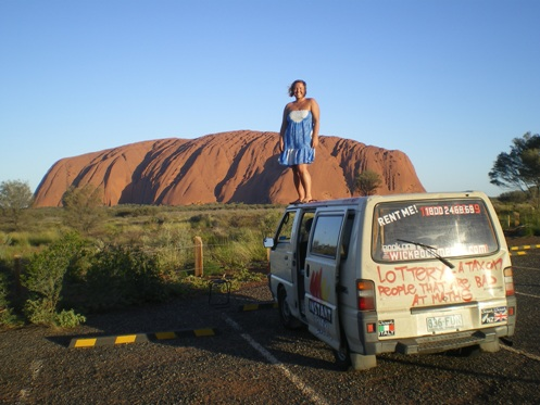 Ayers Rock in the Outback of Australia