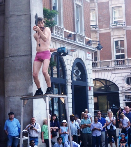 Covent Garden Chainsaw Juggler