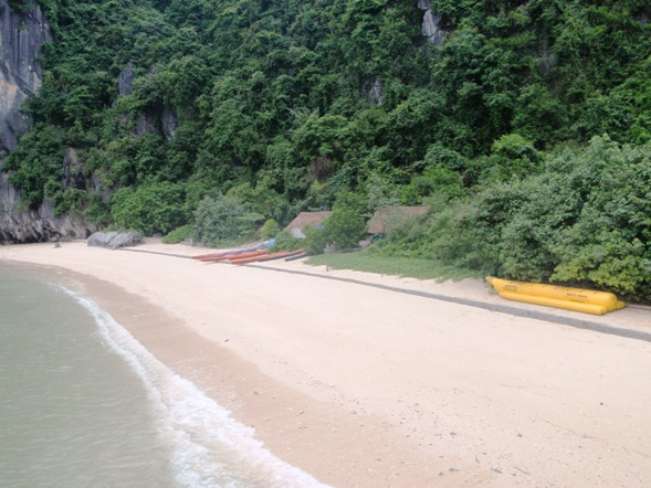 private beach ha long bay