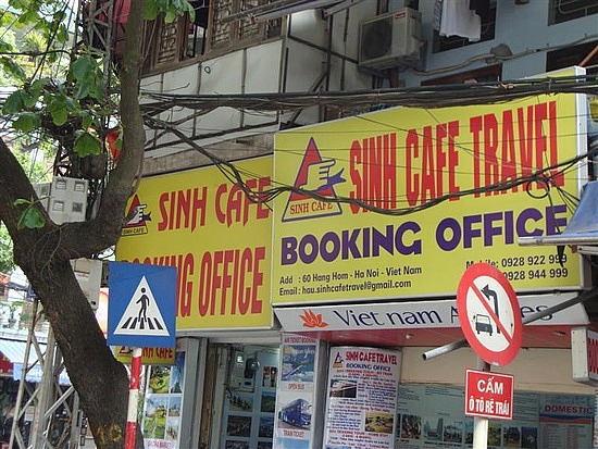 Where is the real sinh cafe in hanoi, Vietnam