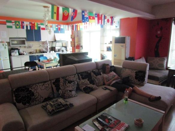 Lounge area at Nanning City Hostel China