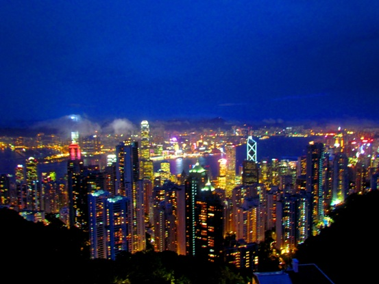 HonKong Sky Line Victoria Peak
