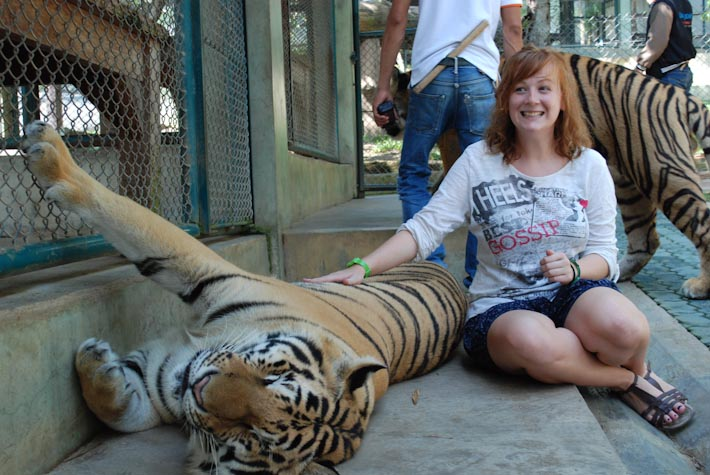 kirsty with big tiger