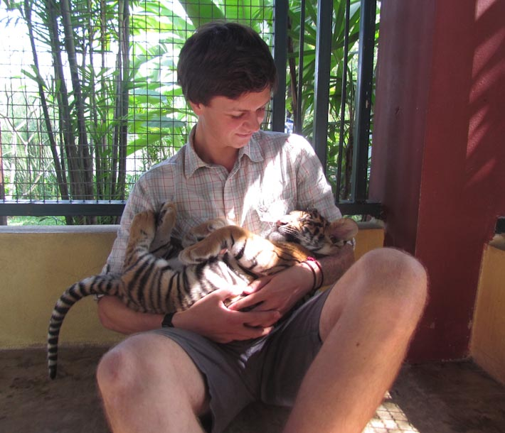 poi with baby tiger