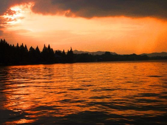 Sunset in Hangzhou