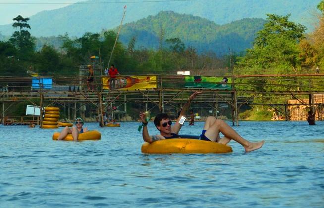 Tubing in Vang Vieng Laos