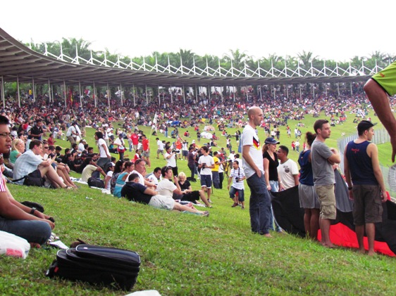 Malaysian Grand Prix hill side seats