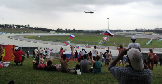 Fans at the malaysian F1