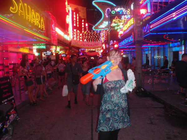 Songkran 2011 - Khao San road - Beer and a watergun