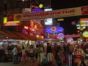 Bangkok night life khao san road