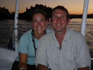 On a boat in Aswan