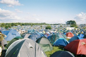 The camping area at leeds festival