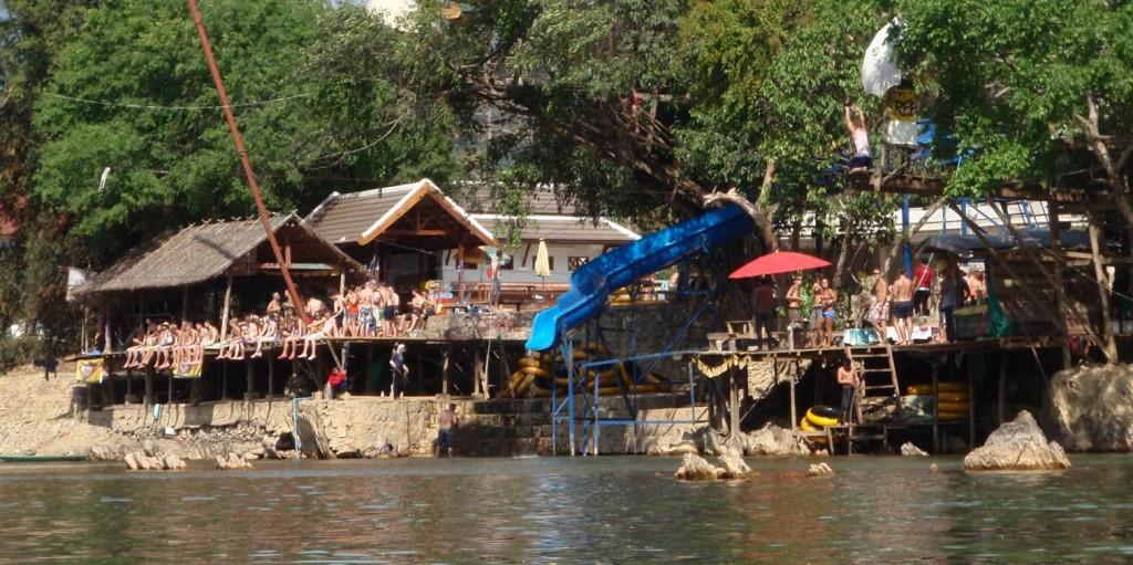 Tubing River in Vang Vieng Laos