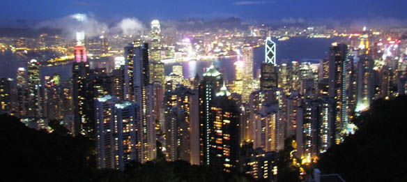 The View from Vistoria Peak over Hong Kong Isalnd