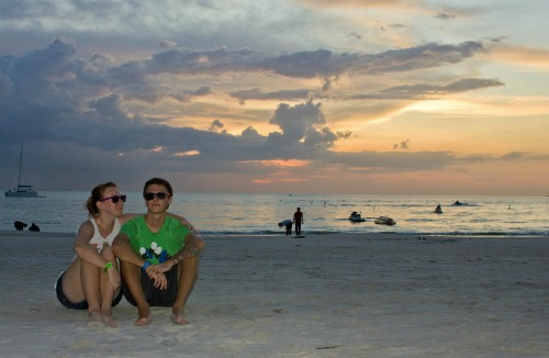 On the beach in Langkawi
