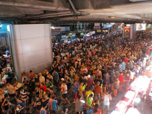 Songkran in Silom, Bangkok