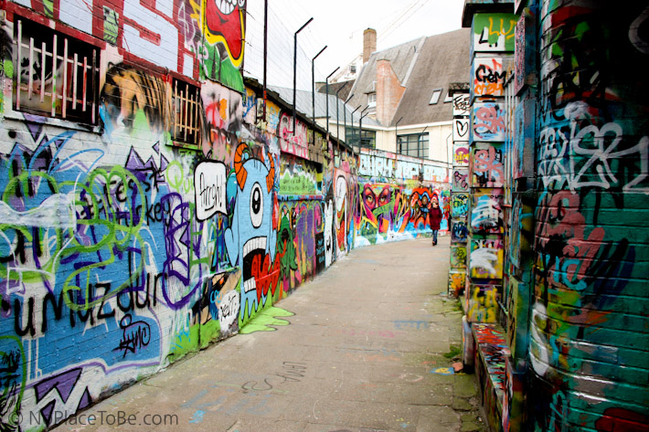 Street art alley in Ghent