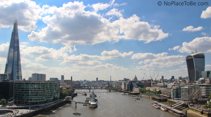 The View from Tower Bridge London
