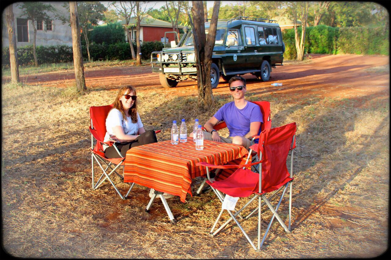 Poi and Kirsty at Kuda campsite