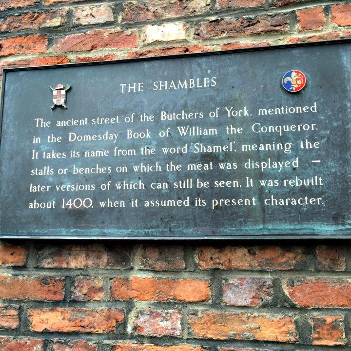 Shambles sign york